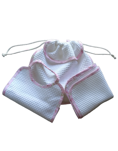 shop Kit sacca bavaglino tavaglietta rosa