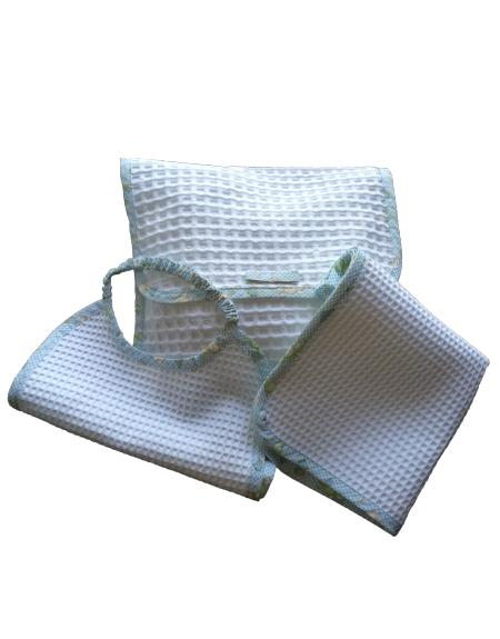 shop Kit busta bavaglino asciugamano celeste